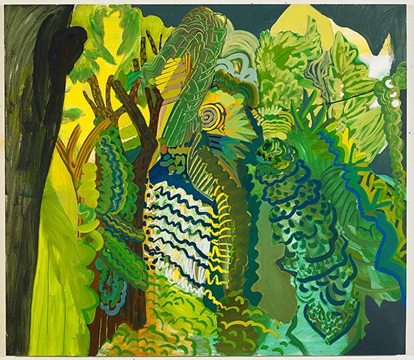 Karla Wozniak, Synchronous Fireflies, 2013, Oil and Oil Bar on Panel, 48 x 55 inches