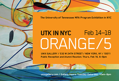 Orange 5 Exhibition Features work on UTK MFA Students in New York City